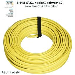 12/3 Cerrowire Indoor ELECTRICAL WIRE NM-B Solid with Ground