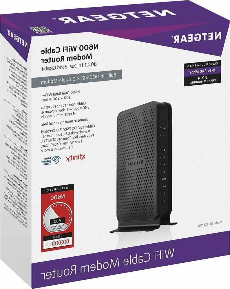 n600 c3700 100nas wifi cable modem router