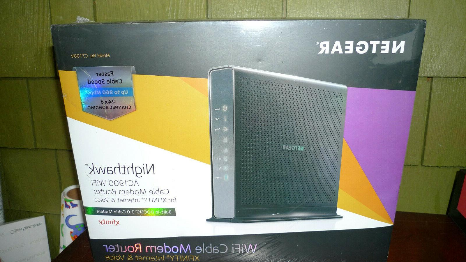 nighthawk ac1900 wi fi cable modem router