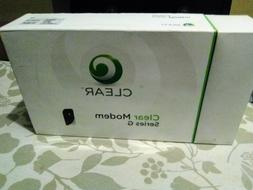 New in the box Clear Modem Series G black sliver and green